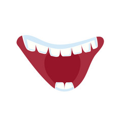 Cheerful comic mouth expression vector