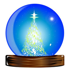 Christmas globe tree vector