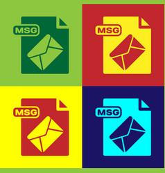 Color msg file document download msg button icon vector