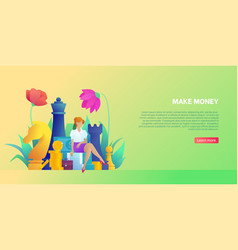 Concept making money profit and business vector