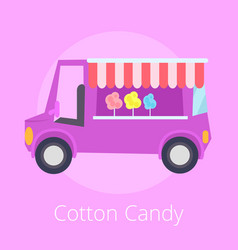 Cotton candy shopping store vector