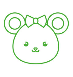 cute and tender female mouse kawaii style vector image