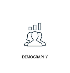 demography concept line icon simple element vector image