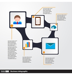 Design infographics concept with icons vector image