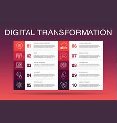 Digital transformation infographic 10 option vector