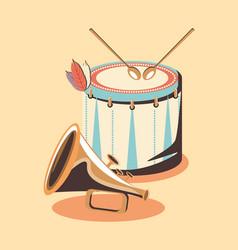 Drum intrument design vector