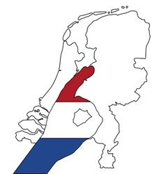 Dutch finger signal vector image