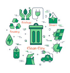 Eco concept - clean city vector