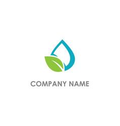 eco leaf droplet bio logo vector image