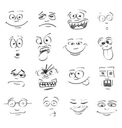 Emo faces vector image