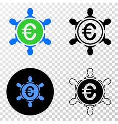 euro people company eps icon with contour vector image