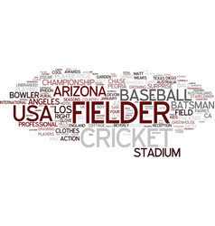 fielder word cloud concept vector image