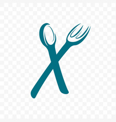 fork and spoon for cafe icon vector image
