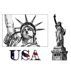 freedom statue vector image