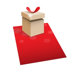 Gift box with space for text vector