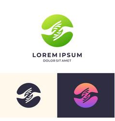 Hand care logo design icon vector