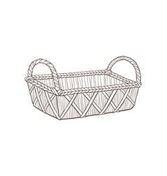 Hand drawn basket vector