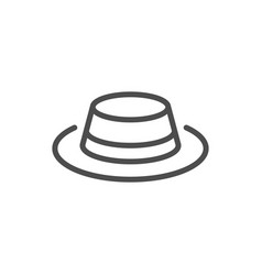 hat line icon vector image