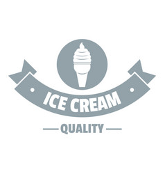 ice cream logo simple gray style vector image