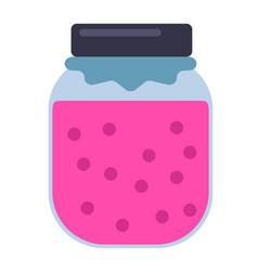 Jar jam geometric isolated on vector