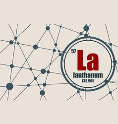 Lanthanum chemical element vector