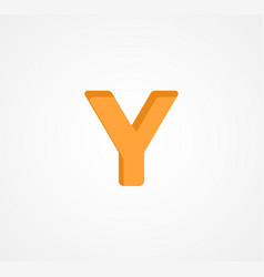 Letter y bold geometric font element modern vector
