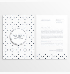 Letterhead design with minimal pattern vector