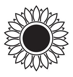 Line icon sunflower vector