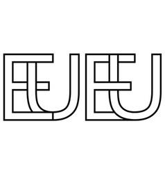logo european union eu capital vector image