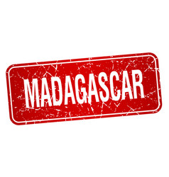 Madagascar red stamp isolated on white background vector