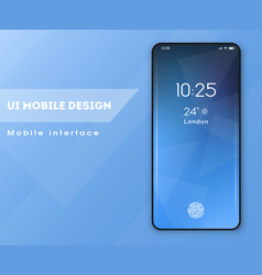 mobile application standmode interface design vector image
