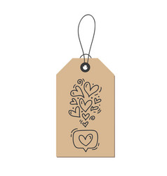 Monoline calligraphy flourish hearts like vector