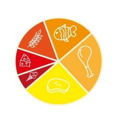 nutrition infographic isolated icon design vector image