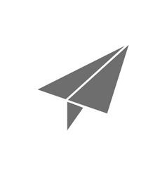 Paper plane post communication grey icon vector
