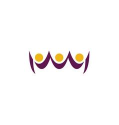 People team winners celebration logo icon vector