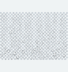 Realistic raindrop on transparent background vector
