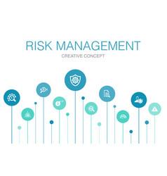 Risk management infographic 10 steps circle design vector
