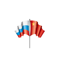 russia and china flags vector image