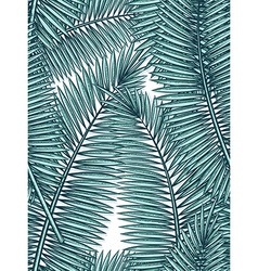 Seamless pattern with palm leaves in sketch style vector image