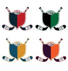 Set hockey sport crests vector