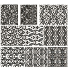 Set of antique seamless patterns vector image