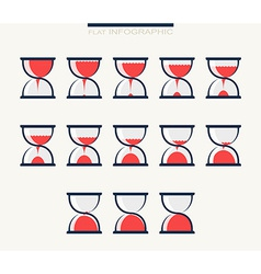 Set of charts in form hourglasses Infographics vector