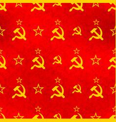 soviet sickle and hammer symbol on red communist vector image