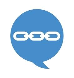 speech bubble chain icon vector image