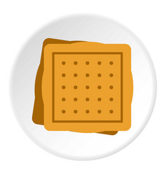 Square cookies icon circle vector