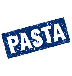 Square grunge blue pasta stamp vector