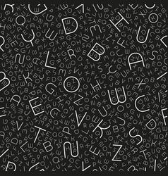 Stylish seamless alphabet pattern fashion vector