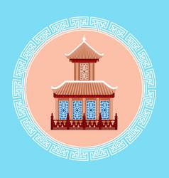 temple seoul landmark icon south korea travel vector image