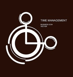 time management icon on brown vector image
