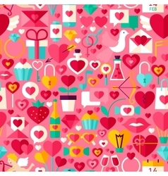 Valentine Day Pink Seamless Pattern vector image